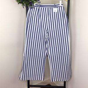 WAFY Blue & White Striped Pants